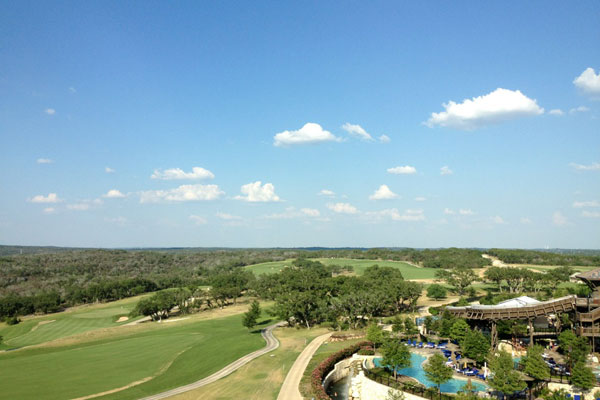 My room view at the JW Marriott Hill Country Resort